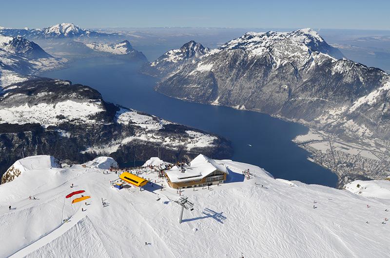 Winter Gipfelrestaurant Fronalpstock Morschach
